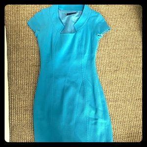 Dsquared blue hi collared dress